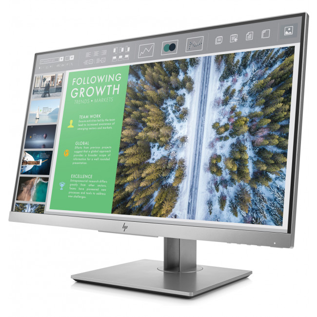 "HP EliteDisplay E243 (1FH47AA) 23.8"" IPS 16:9 1920x1080 5MS 5M:1 VGA DP HDMI 3xUSB Tilt+Swivel+Pivot H-ADJ 3YR Warranty"
