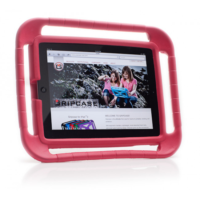 Gripcase -  I2RED-CB Gripcase for iPad V2 V3 V4 - Red