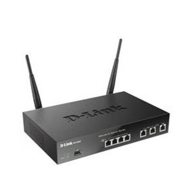 D-Link DSR-500AC Unified Wireless AC Services Router with 4xLAN, 2xWAN Gigabit, 1xUSB 2.0 port