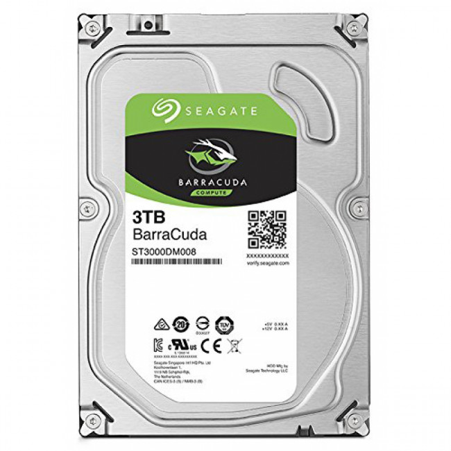 "SEAGATE BARRACUDA 3TB 7200RPM 64MB CACHE 3.5"" 6Gb/S SATA"